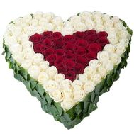 101 rose heart - flowers and bouquets on df.ua