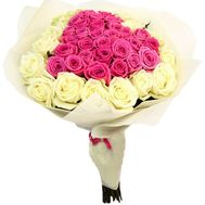 """Bouquet in the form of heart from roses"" in the online flower shop df.ua"