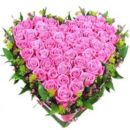 Basket of roses in the form of heart - flowers and bouquets on df.ua