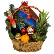 Christmas basket with fruits and sweets - flowers and bouquets on df.ua