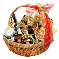 Grocery gift basket for men - flowers and bouquets on df.ua