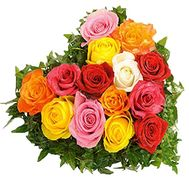 Roses in the shape of heart - flowers and bouquets on df.ua