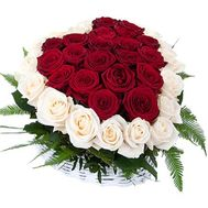 Roses in a basket in the shape of a heart - flowers and bouquets on df.ua