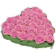Heart of pink roses - flowers and bouquets on df.ua