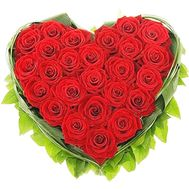 Heart of red roses - flowers and bouquets on df.ua