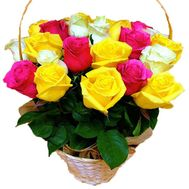 25 different roses in the basket - flowers and bouquets on df.ua