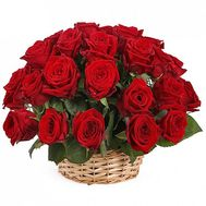 35 import roses in the basket - flowers and bouquets on df.ua