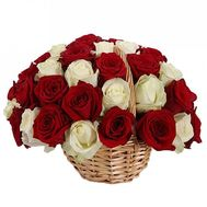 Basket of imported roses for the 40th anniversary - flowers and bouquets on df.ua