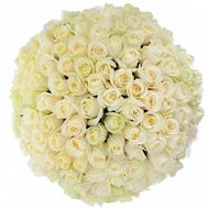 101 white rose 40 cm - flowers and bouquets on df.ua