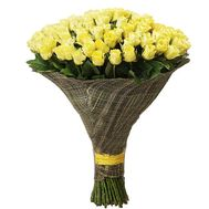 101 yellow rose 80 cm - flowers and bouquets on df.ua