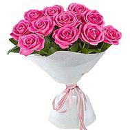 11 розовых роз - цветы и букеты на df.ua