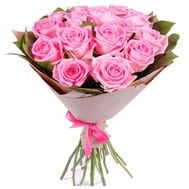 15 pink roses - flowers and bouquets on df.ua