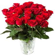 25 imported red roses - flowers and bouquets on df.ua