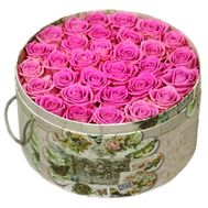 31 pink roses in a box - flowers and bouquets on df.ua