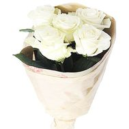 5 white roses - flowers and bouquets on df.ua