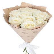 9 белых роз - цветы и букеты на df.ua