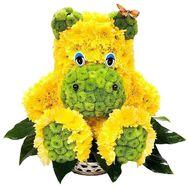 Бегемот из цветов хризантемы - цветы и букеты на df.ua