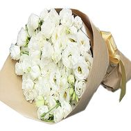 White eustoma in a bouquet - flowers and bouquets on df.ua