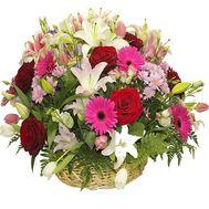 Большая корзина цветов - цветы и букеты на df.ua