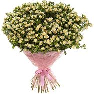 Large bouquet of creamy bush roses - flowers and bouquets on df.ua