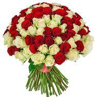 Большой букет роз с Днем Рождения - цветы и букеты на df.ua