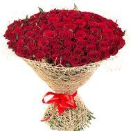 Букет 101 красная роза - цветы и букеты на df.ua