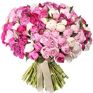 Букет 101 пион - цветы и букеты на df.ua