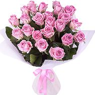 25 pink roses - flowers and bouquets on df.ua
