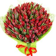 Bouquet of 100 tulips + one - flowers and bouquets on df.ua