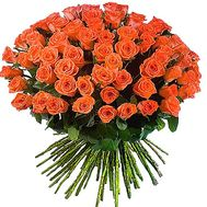 Bouquet of 101 roses of orange color - flowers and bouquets on df.ua