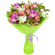 Bouquet of 15 Alstroemeria - flowers and bouquets on df.ua