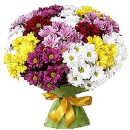 Bouquet of 15 chrysanthemums - flowers and bouquets on df.ua