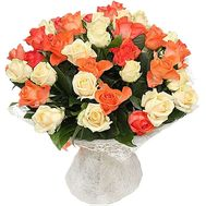 """39 orange and cream roses"" in the online flower shop df.ua"