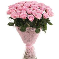 """""""Bouquet of 45 pink roses"""" in the online flower shop df.ua"""