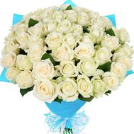 """""""Bouquet of 51 white roses"""" in the online flower shop df.ua"""