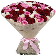 """85 multi-colored roses"" in the online flower shop df.ua"