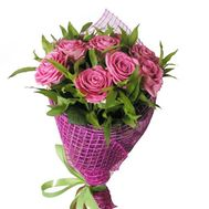 9 pink roses - flowers and bouquets on df.ua