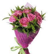 9 розовых роз - цветы и букеты на df.ua