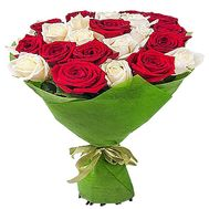 """Bouquet of red and white roses"" in the online flower shop df.ua"