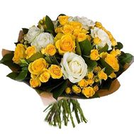 Bouquet of bush roses and regular roses - flowers and bouquets on df.ua