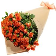 Bouquet of orange bush roses - flowers and bouquets on df.ua