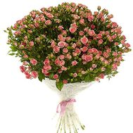 Bouquet of pink bush roses - flowers and bouquets on df.ua