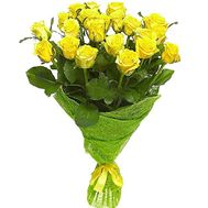 21 yellow rose - flowers and bouquets on df.ua