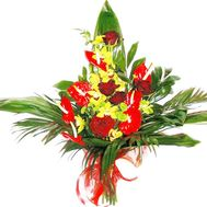 Bouquet with anthurium and other flowers - flowers and bouquets on df.ua