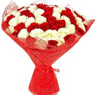"""Bouquet with red and white roses"" in the online flower shop df.ua"