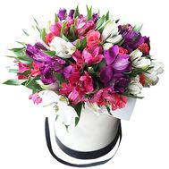 Bouquet in a box to buy - flowers and bouquets on df.ua