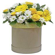 Букет в шляпной коробке купить - цветы и букеты на df.ua
