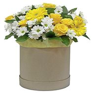 Букет в шляпній коробці купити - цветы и букеты на df.ua