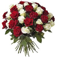 """45 red and white roses"" in the online flower shop df.ua"