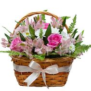 Flower Arrangement in Basket - flowers and bouquets on df.ua